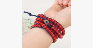 Royal Red Wrap Bracelet