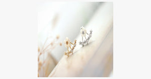 Flower Crystal Stud Earrings