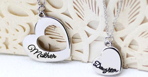 Mother-Daughter Heart Set Pendant - Perfect Way To Show Love for Your Mother/Daughter!