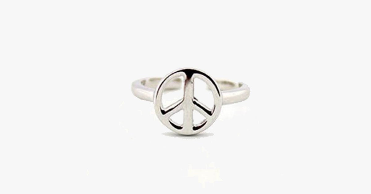 Silver Peace Toe Ring