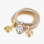 Tree Of Life Bracelet with Mesh Design Featuring Austrian Rhinestones - Add A Wow-Factor to Your Look