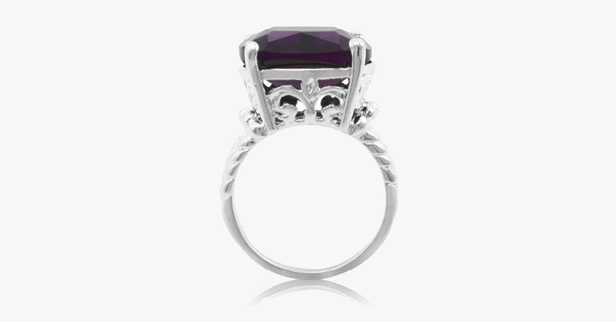 Midnight Purple Cocktail Ring