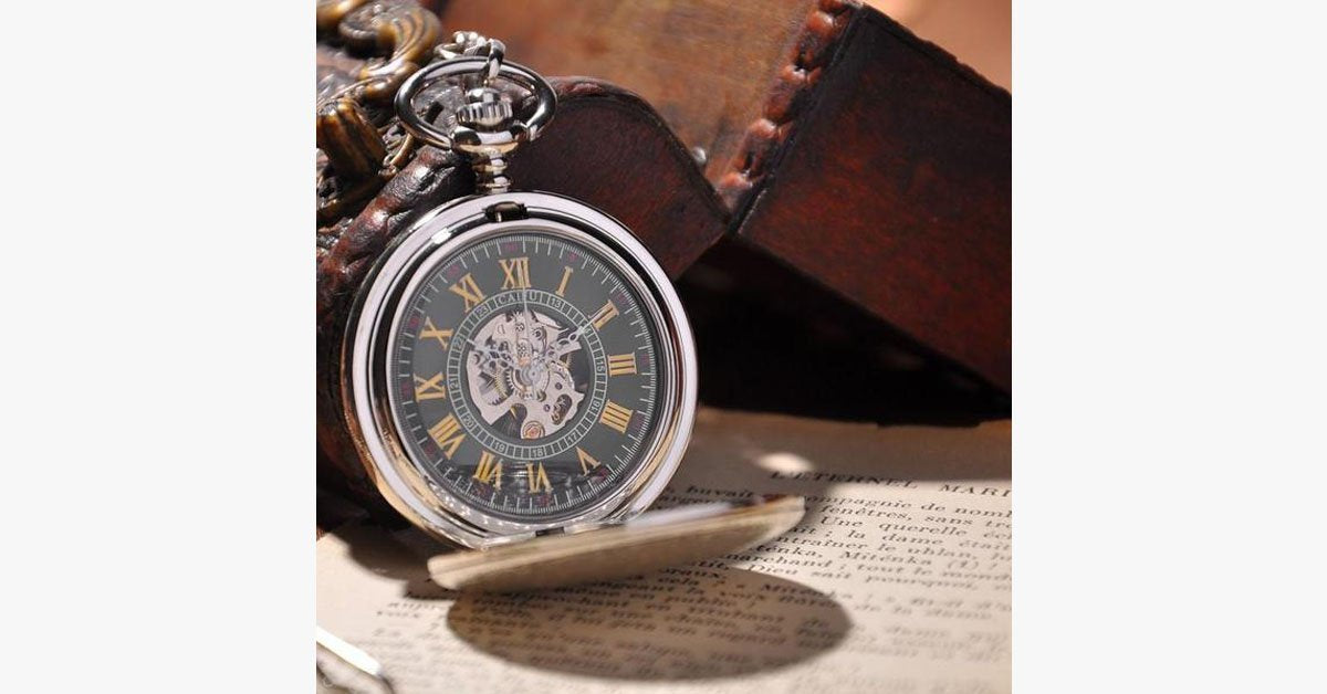 Silver Shield Full Hunter Pocket Watch