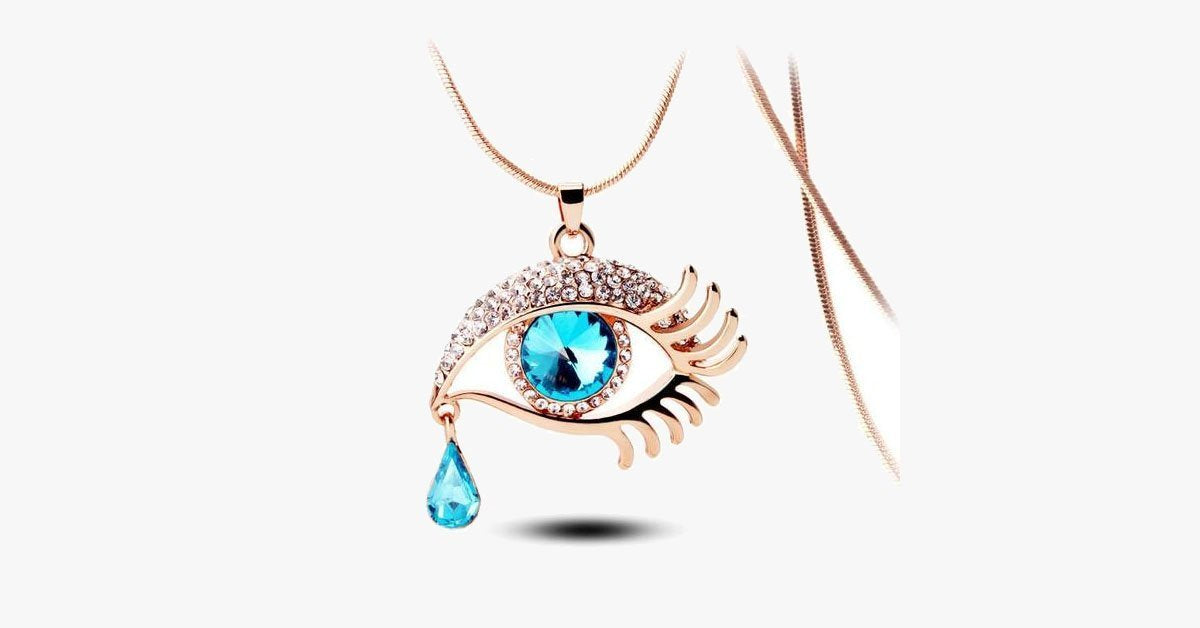 Cleopatra Crystal Eye Necklace