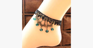 Turquoise Raindrop Anklet