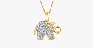Diamond Accent Elephant Pendant