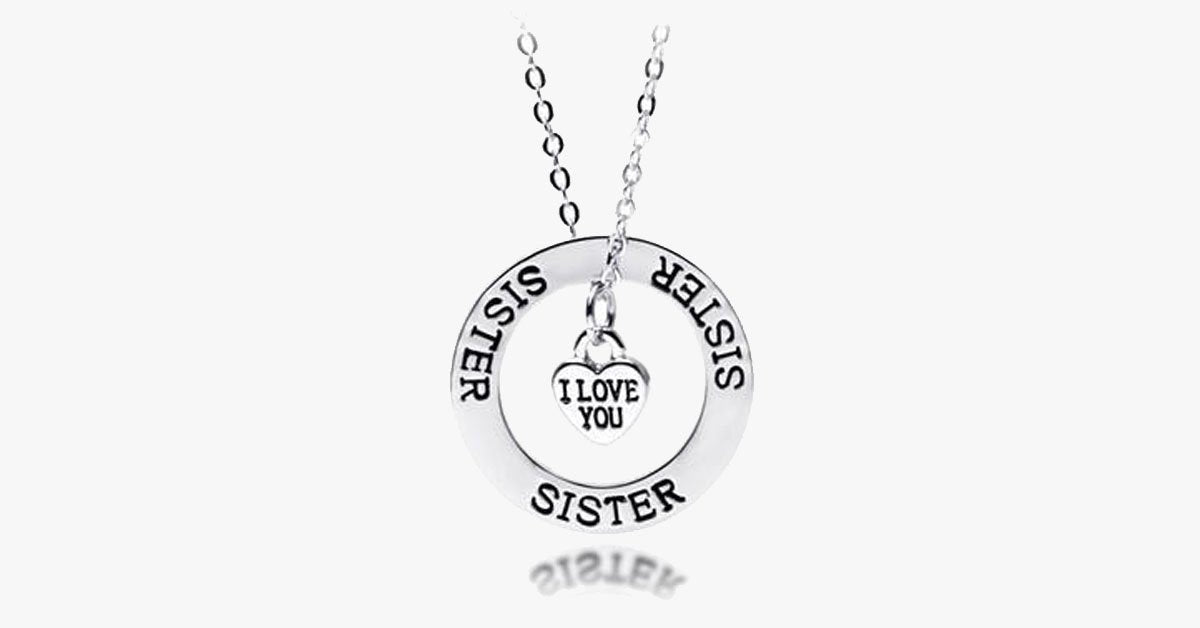 Sisters - I Love You Pendant