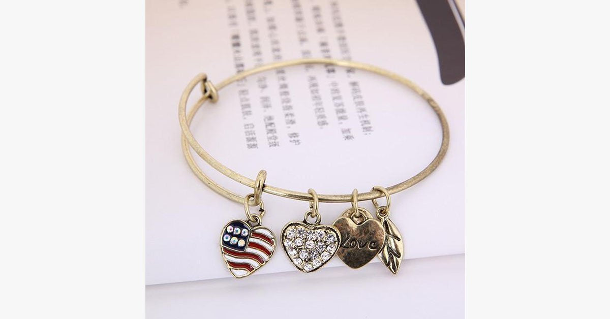 Patriot Love Charm Bangle