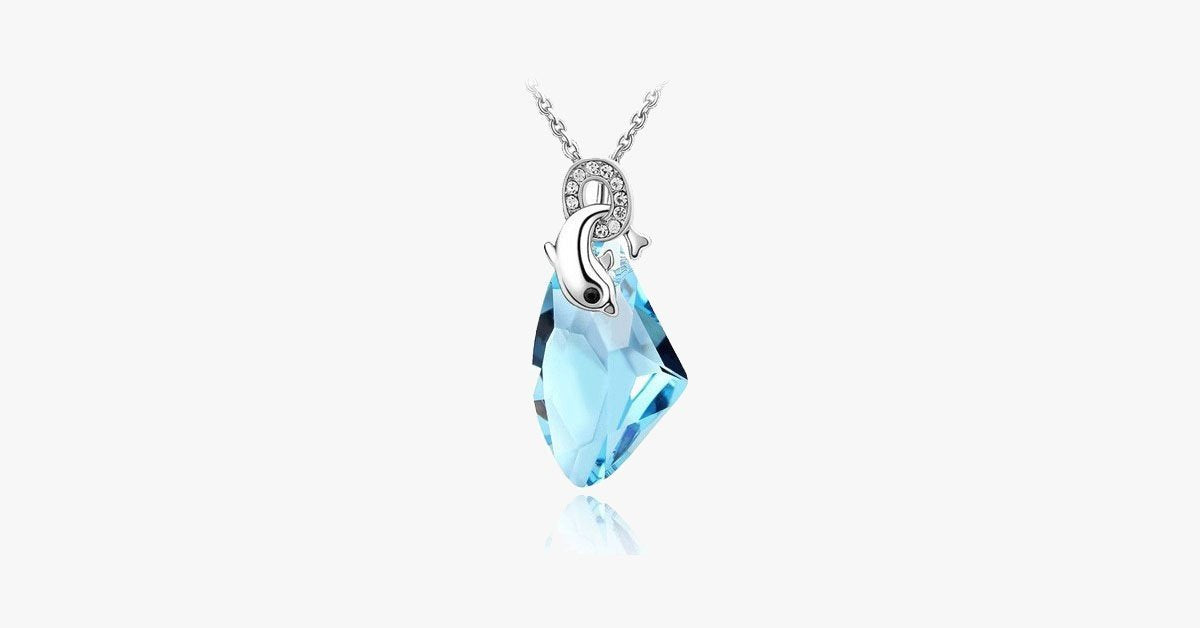 Dolphin Crystal Pendant Necklace