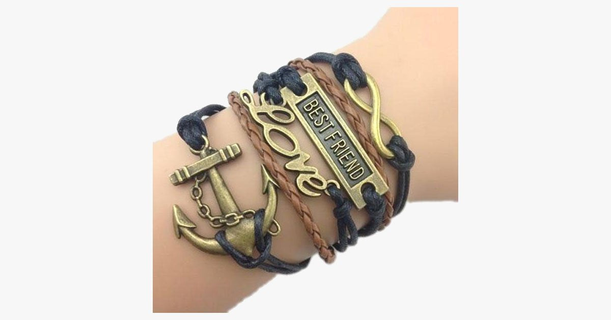 Best Friend Love Anchor Bracelet