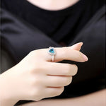 Zirconium Aquamarine Ring