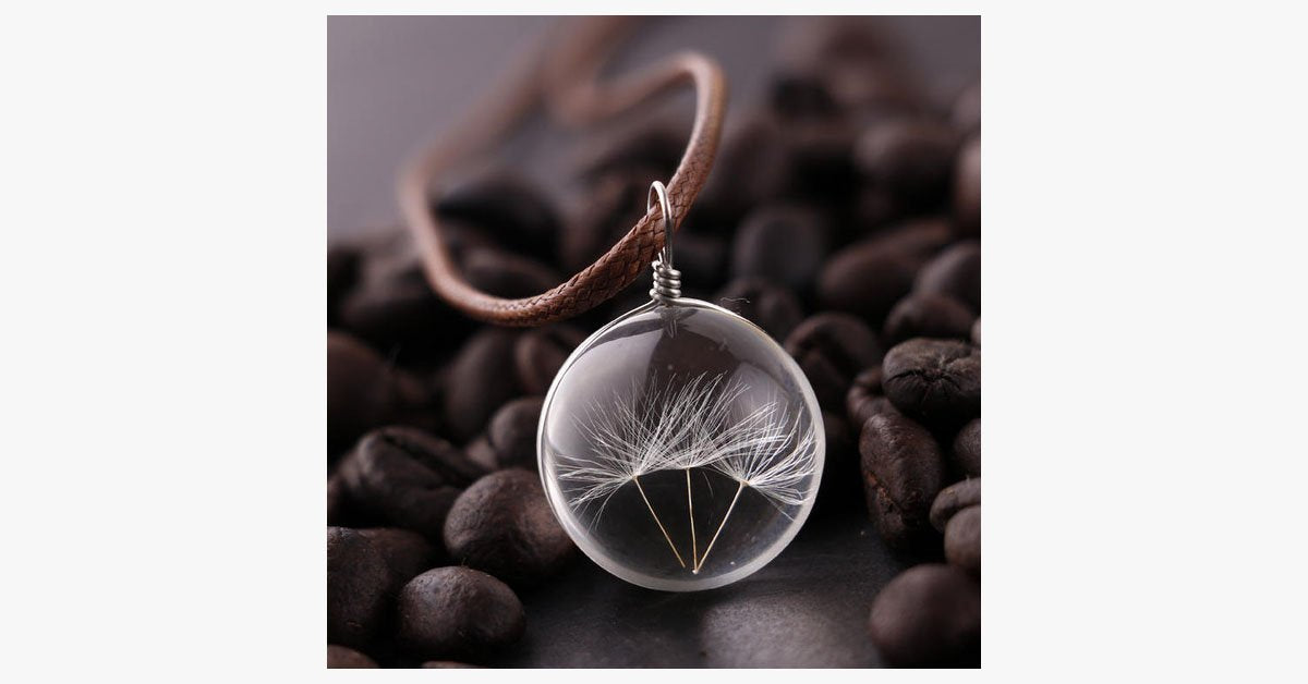Crystal Glass Ball Wish Pendant