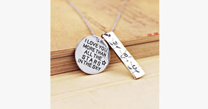 I Love You More Than All The Stars In The Sky Charm Necklace