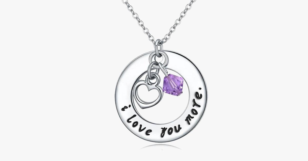 I Love You More Necklace (Crystal)