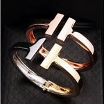 T-Style Stainless Steel Bangle