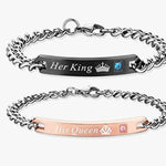 His Queen Her King Couples Bracelets