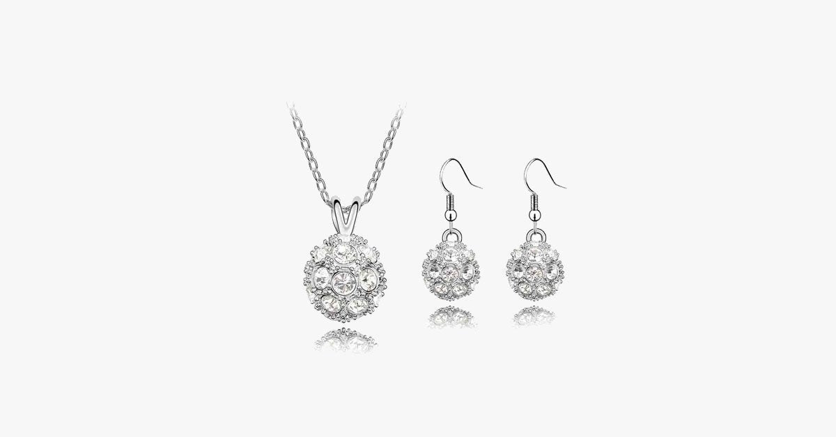 Stunning fireball jewelry set for women- perfect for formal and informal occasions- Perfect jewelry for everyday wear