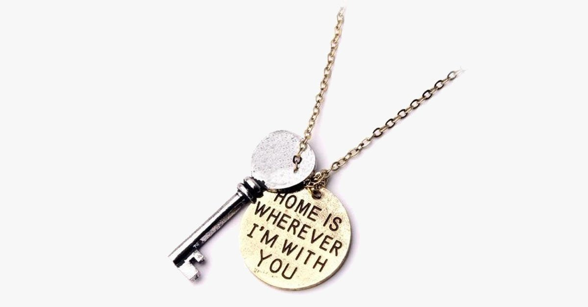 Home Is Where I Am With You Necklace