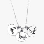 Live Laugh Love Circle Pendant