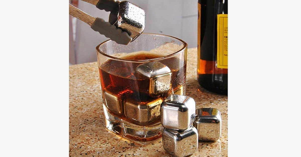 Stainless Steel Wine Cooler Cubes