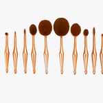 Oval Brush Set in Metallic Gold - Gives You the Ultimate Blending Needed!