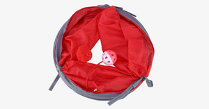 Foldable Polyester Pet Tunnel With Bell