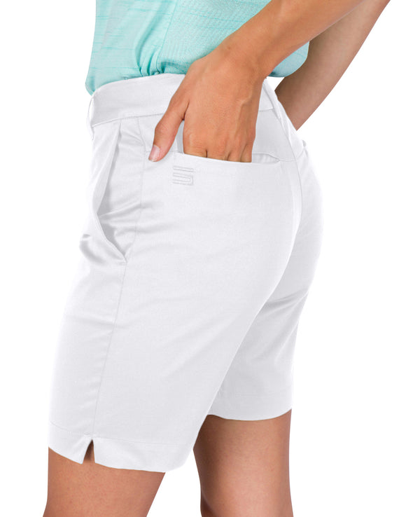 Womens Bermuda Golf Shorts - Quick Dry Active Shorts with Pockets, Athletic and Breathable - 8 ½ Inch Inseam