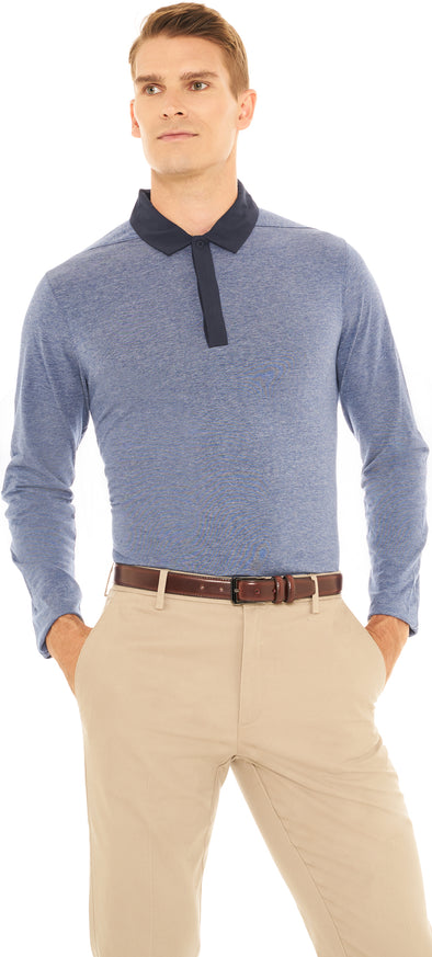 Mens Long Sleeve Golf Polo