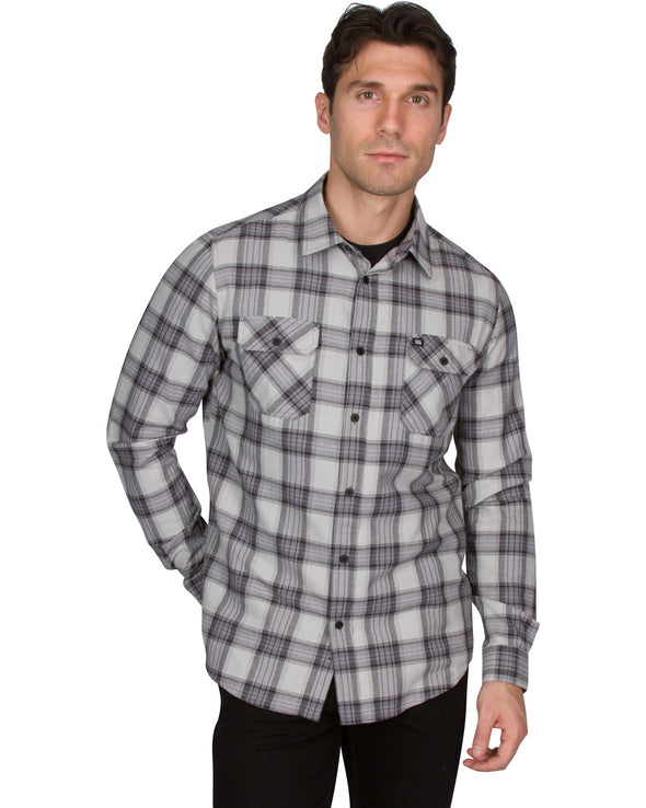 Classic Dry Fit Flannel Shirt for Men - Long Sleeve Button Down Flannel with Moisture Wicking Fabric