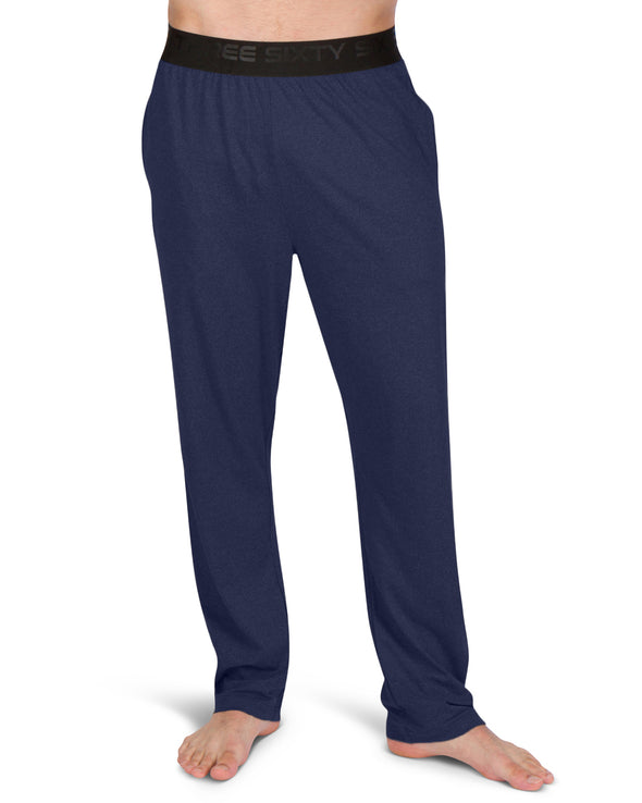 Performance Dry Fit Pajama Pants for Men - Stretch Lounge Pjs, Tapered Fit, Solid