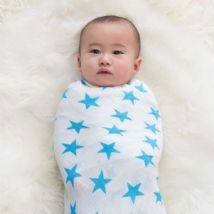 Fluro Blue 2-pk Swaddle by Aden and Anais
