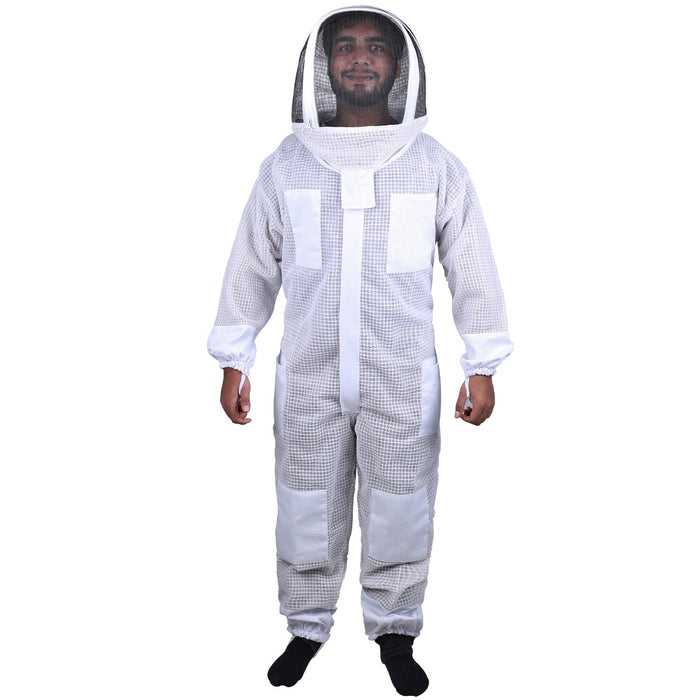 Beekeeping Bee Full Suit 3 Layer Mesh Ultra Cool Ventilated Hoodie Veil Beekeeping Protective Gear Size S