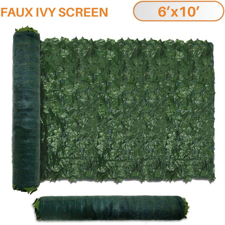 Artificial Ivy Leaf Hedging & Privacy Screen (shade cloth backing) 3m x 1m Roll