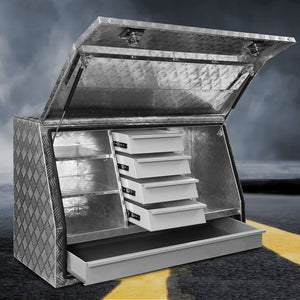 Giantz Aluminium Toolbox Generator Tool Box Drawers Truck Canopy Trailer Locks