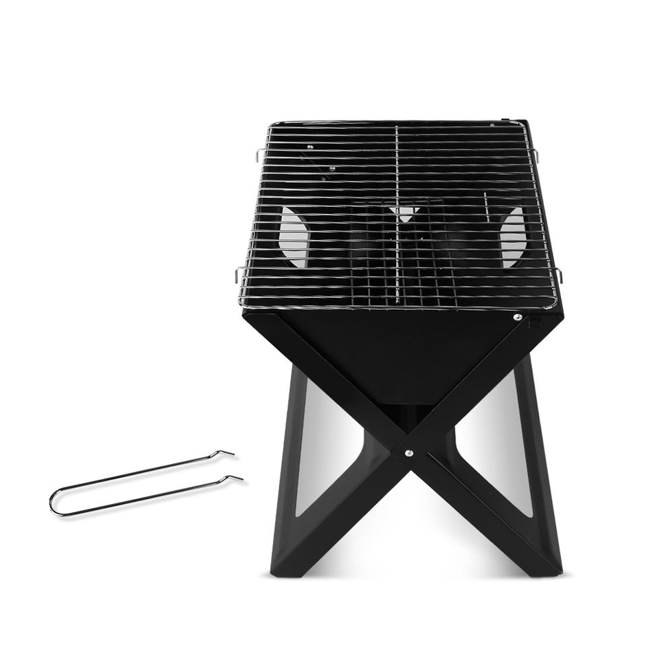 Grillz Notebook Portable Charcoal BBQ Grill