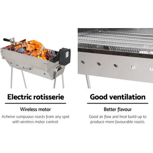 Grillz Portable Electric Spit Roaster & Rotisserie