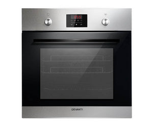 Devanti 70L Electric Built in Wall Oven Stainless Steel Fan Forced Convection