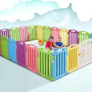 Cuddly Baby 23-Panel Plastic Baby Playpen Interactive Kids Toddler