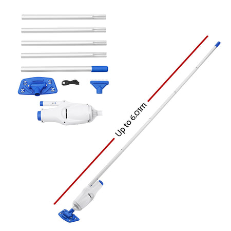 Bestway Automatic Pool Cleaner Vacuum Sucker Cordless With Pole Rechargeable