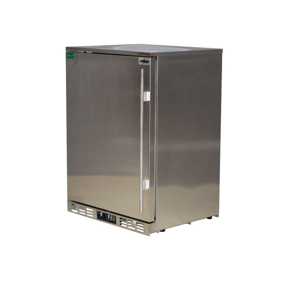 Rhino Stainless Steel 1 Door Solid Stainless Bar Fridge Left Hinged MODEL: SG1L-SD