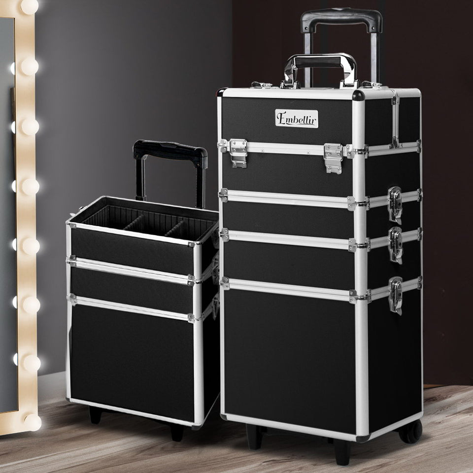 Embellir 7 in 1 Portable Cosmetic Beauty Makeup Trolley - Black
