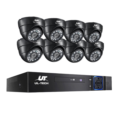 UL-tech CCTV Camera Home Security System 8CH DVR 1080P IP 8 Dome Cameras Long Range