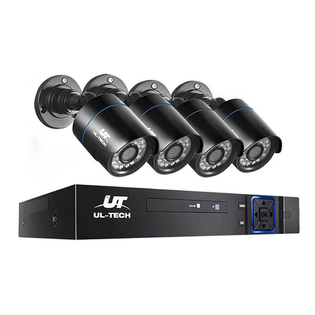 UL-Tech CCTV Security Camera System 4CH Super HD 5in1 DVR 2560 x 1920