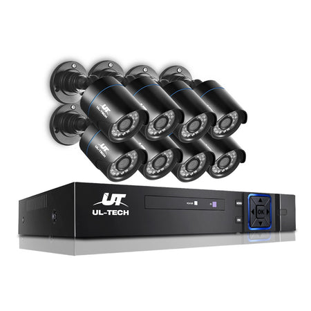 UL-Tech CCTV 8x 5MP PRO Security Camera System 8CH Super HD 5in1 DVR