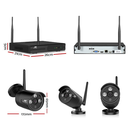 UL-Tech CCTV Wireless Security System 2TB 8CH NVR 1080P 4 Camera Sets