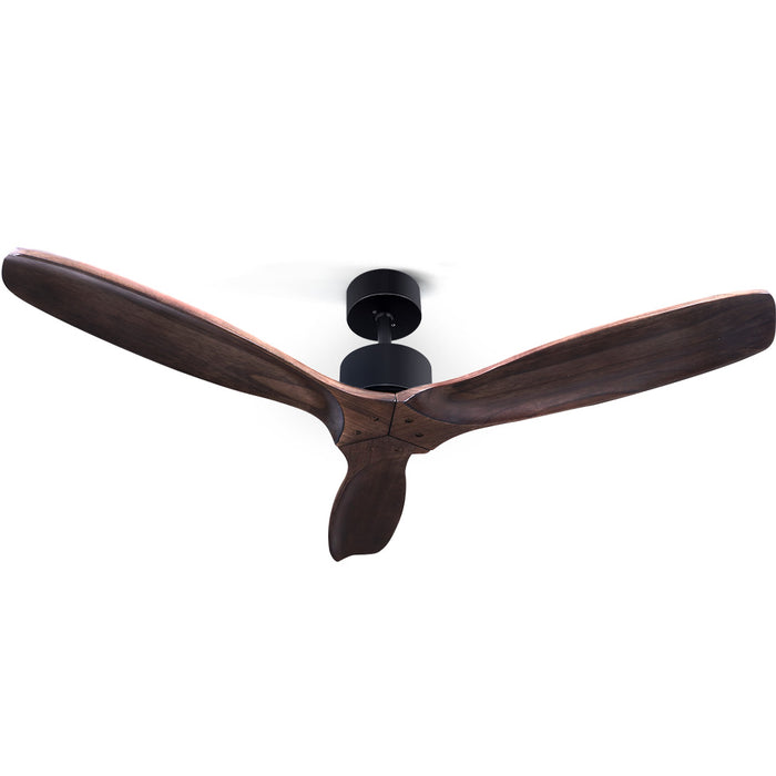 52 Fan Remote Control 8H Timer 3 Speeds 3 Wooden Blades