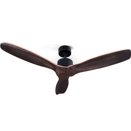 52 Fan Remote Control 8H Timer 3 Speeds 3 Wooden Blades""