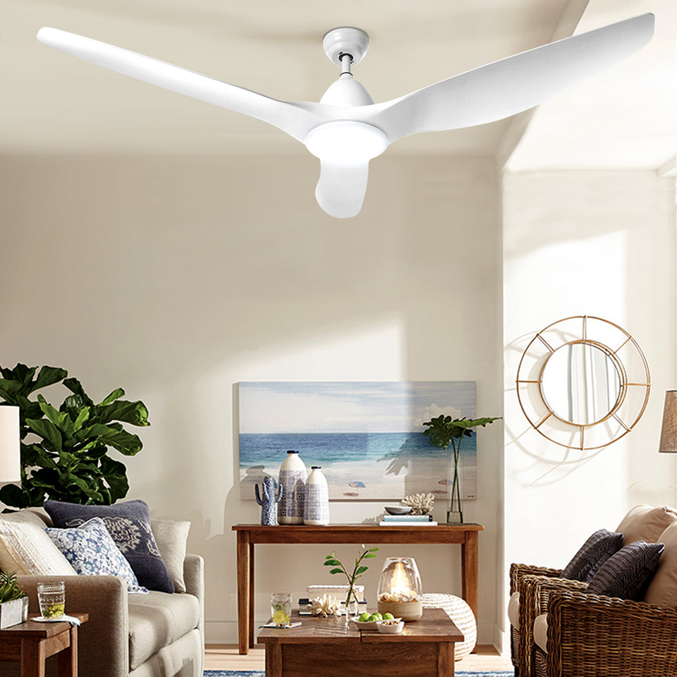 Devanti 64'' DC Motor Ceiling Fan With Light LED Remote Control Fans 3 Blades