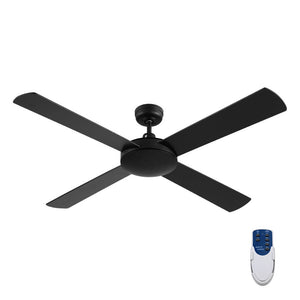 Devanti 52 inch 1300mm Ceiling Fan 4 Wooden Blades with Remote Control Reversible Fans