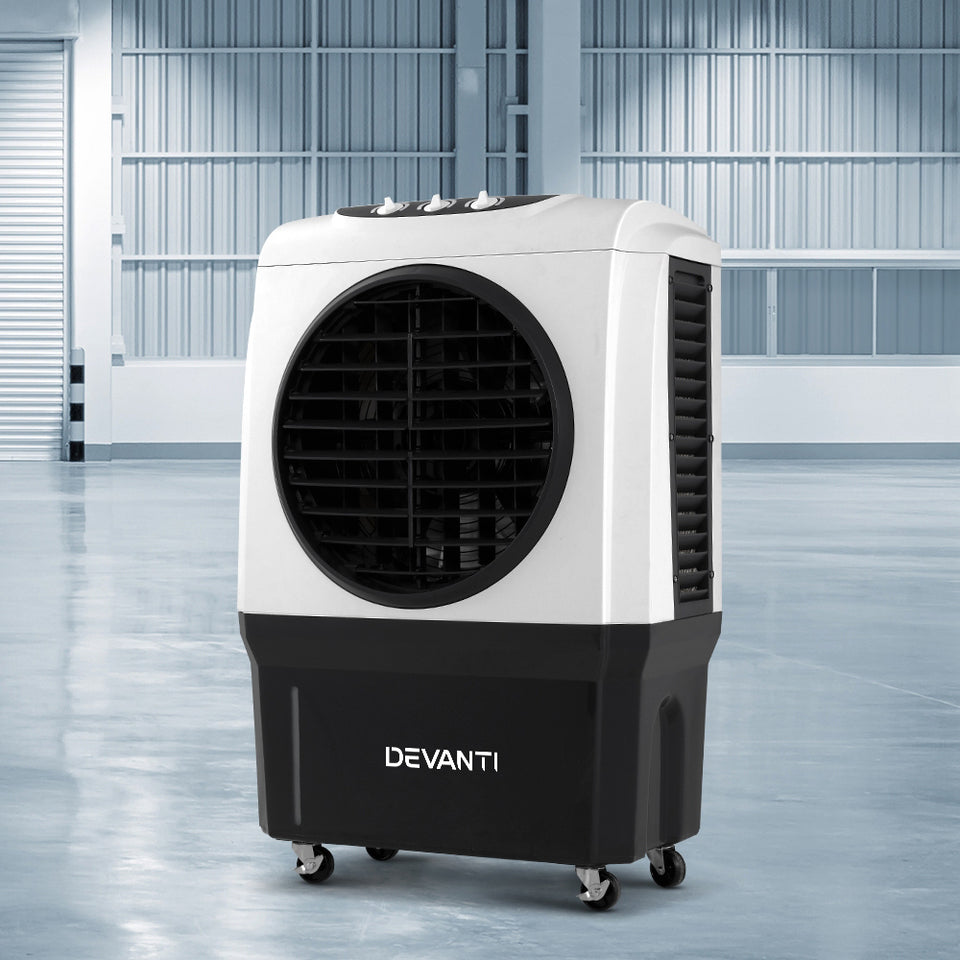 Devanti Evaporative Air Cooler Industrial Commercial Portable Water Fan Workshop